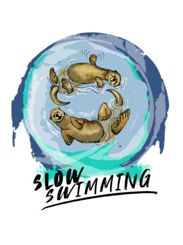 slow swimming czepek
